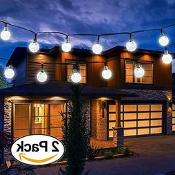 Vivii Solar String Light White 2 Pk 20 ft 30 LED Crystal Bal
