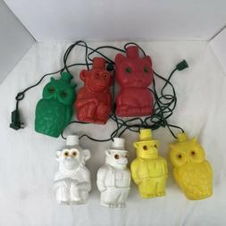 vtg string of 7 blow mold plastic