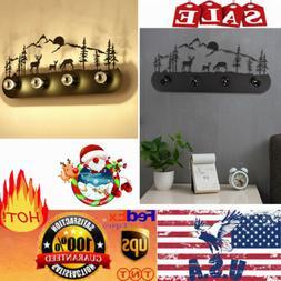 Wall Light Fixture Black Sconce Lighting Industrial Metal Mo