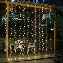 Wall Lights Bedroom String Hanging Backdrop Curtain Plug In