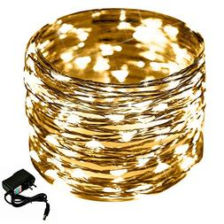 Warm LED String Light, CrazyFire 33ft/10m 100 LED Indoor Fai