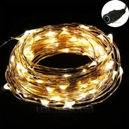 Warm White 10M/33FT 100LED Copper Wire String Party Wedding