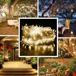 Warm White 304LED 3*3M Fairy Curtain String Lights Waterfall