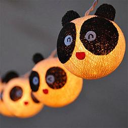 Warm White, 0-5W : 3M Cotton String Light 20pcs Ball Panda P