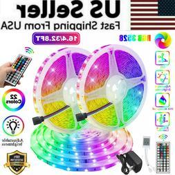 Waterproof 16FT/32FT Flexible 3528 RGB LED SMD Strip Light R