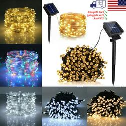 Waterproof LED Solar String Light Lights Copper Wire Fairy O