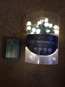 GE STAYBRIGHT 70 LED GREEN C-5 Christmas Lights Green Wire G