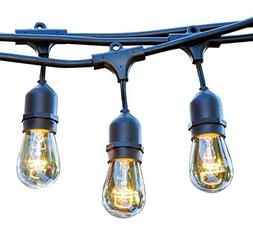 48 FT Weatherproof Outdoor String Lights by Proxy Lighting -