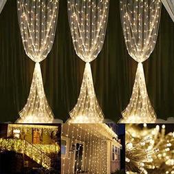 Neretva Window Curtain Icicle Lights, 600 LEDs String Fairy
