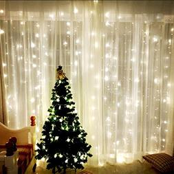 Window Curtain Icicle Lights, LinkStyle 304 LEDS String Fair