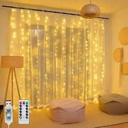 Window Curtain Lights 8 Mode LED Fariy String Lights for Par
