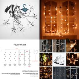 window curtain string lights for bedroom w