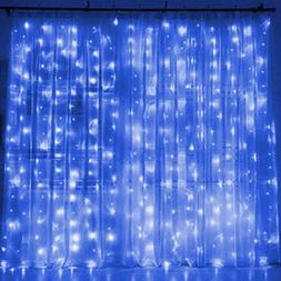 Window Curtain String Lights 8 Modes 9.8 x 9.8 feet for Vale