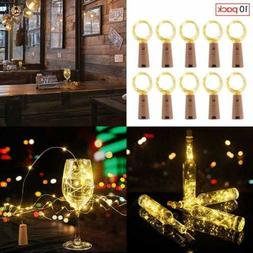 Wine Bottle LED Fairy String Lights 10 Pack 6.6FT 20 Cork Ba