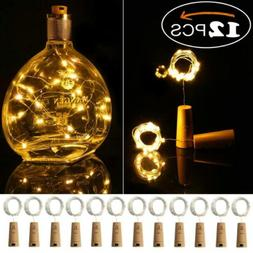 Ehome Wine Bottle Lights with Cork, 12 Pack Starry Fairy War