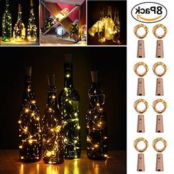 20 LED Wine Bottle Cork Lights Copper Wire String Lights, 8