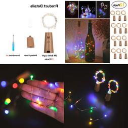 Wine Bottles Lights 12 Packs Cork Copper Starry Bottle Fairy
