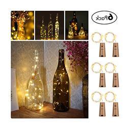 Wine Bottles String Lights, GardenDecor 6 Packs Micro Artifi