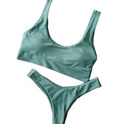 women bikini set swimsuit push