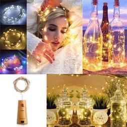 Xmas Bottle Lights Cork Shape For 2M 20 LED Wine Bottle Stri