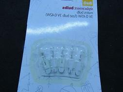xmas bulbs 3v 0 45w clear tug