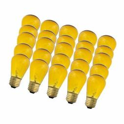 Yellow S14-11w Bulb - Patio string light replacement Bulb -